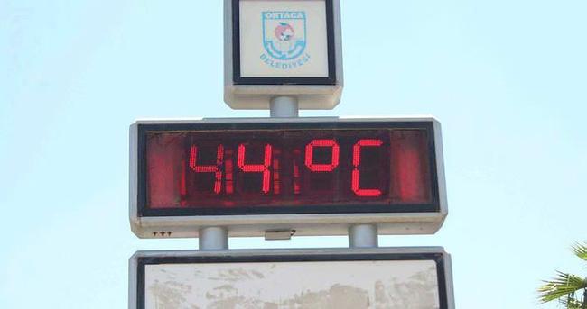 Ortaca'da termometreler 44 dereceyi gösterdi