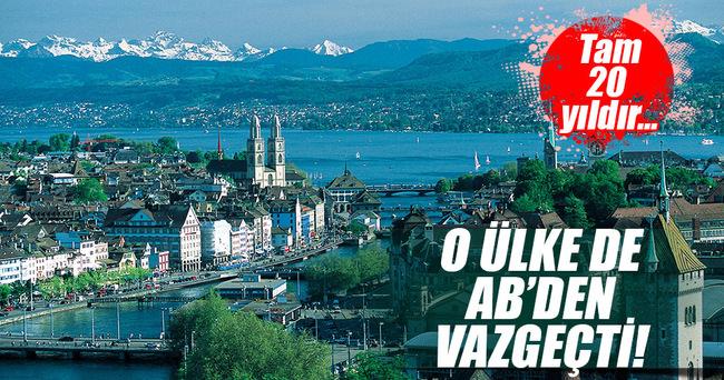 İsviçre AB üyelik başvurusunu geri çekti
