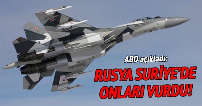 Rusya, Suriye'de ABD'nin desteklediği muhalifleri vurdu!
