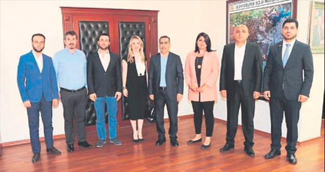 Genç işadamlarından Başkan Çelikcan'a nezaket ziyareti