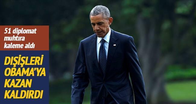 Dışişleri Obama'ya kazan kaldırdı