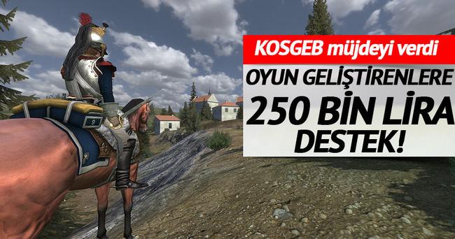 Oyun geliştirenlere 250 bin lira destek
