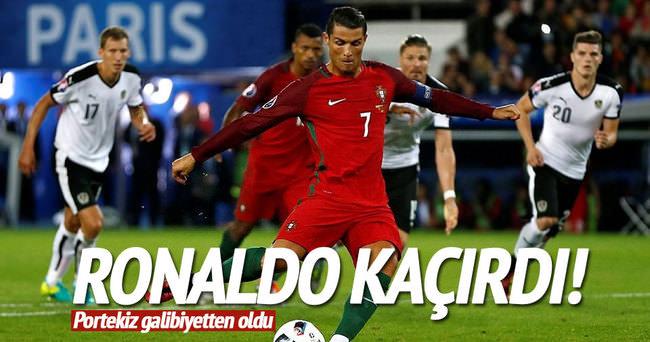 Ronaldı kaçırdı, Portekiz galibiyetten oldu
