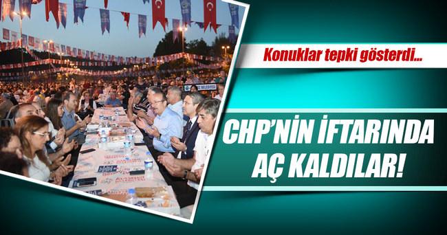 CHP'nin iftarında bazı vatandaşlar aç kaldı