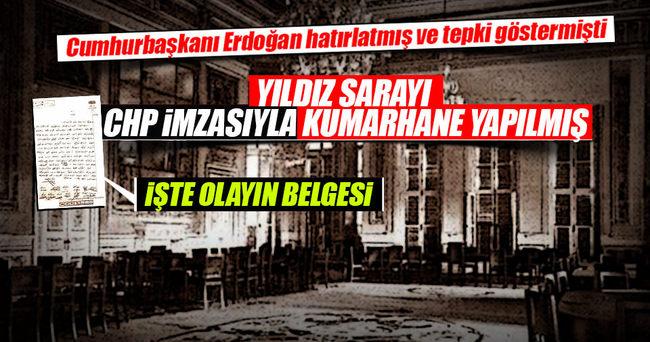 CHP imzasyla kumarhaneye çevrilen Yıldız Sarayı