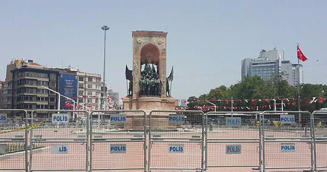 Taksim'de yoğun güvenlik önlemleri alındı