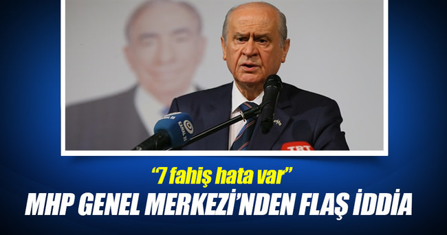 MHP Genel Merkezi'nin iddiasına göre kongrede hatalar var