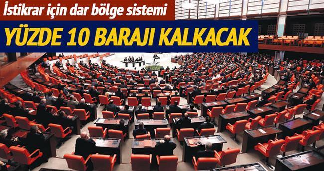 İşte AK Parti'nin dar bölge sistemi