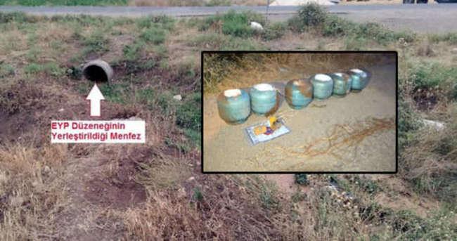 Bismil-Savur Karayolu'na tuzaklanan bomba imha edildi
