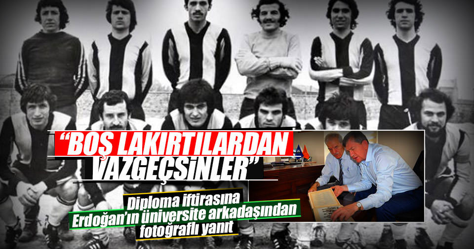İşte Erdoğan'ın üniversite takımındaki fotoğrafı