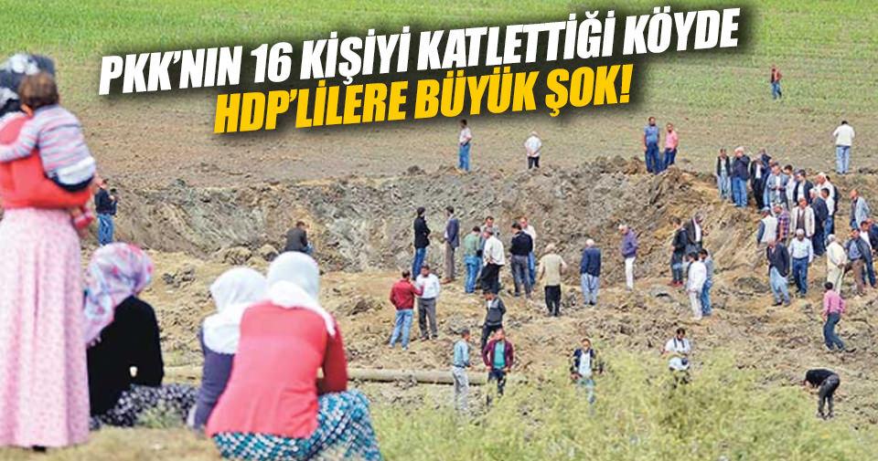 PKK'lıların katliam yaptığı köy HDP'lileri kabul etmedi