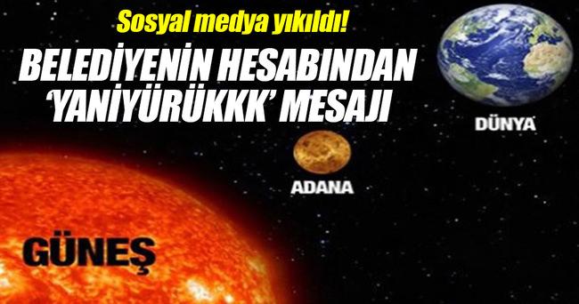 Seyhan Belediyesi'nden güldüren paylaşım!