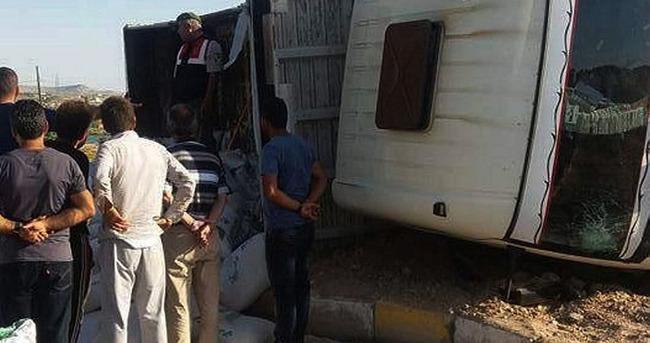 Kaza yapan kamyondan 573 kilo esrar çıktı