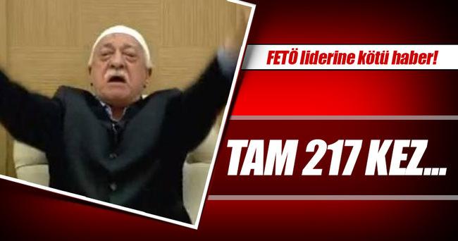 FETÖ'ye 217 kez müebbet