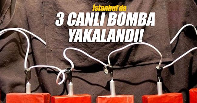 İstanbul'da 3 DAEŞ'li intihar yeleğiyle yakalandı