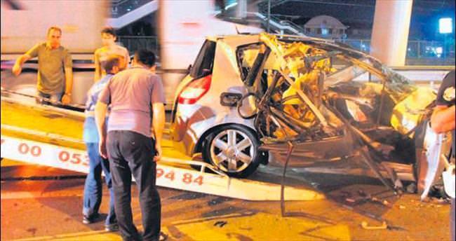 Genç sol bek kazada öldü