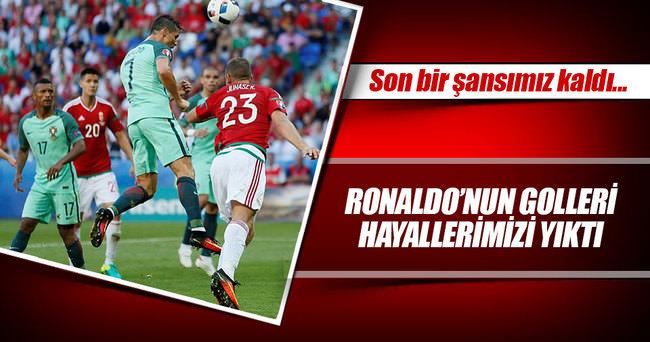 Ronaldo Portekiz'i ipten aldı