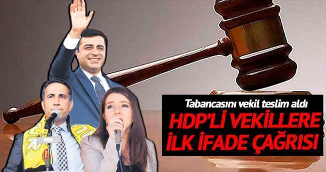 HDP'li vekillere ilk ifade çağrısı