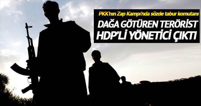 Dağa götüren terörist HDP'li yönetici çıktı