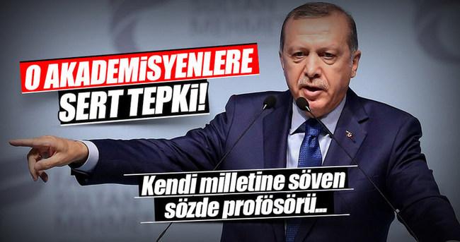 Cumhurbaşkanı Erdoğan'dan o akademisyenlere sert tepki!