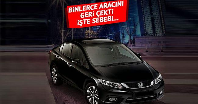 Honda, 147 bin 894 aracı geri çağırdı