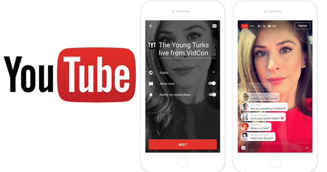 Youtube'un mobil uygulaması üzerinden canlı yayın yapılabilecek
