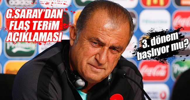 Galatasaray'dan Fatih Terim açıklaması!