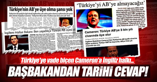 Başbakan Yıldırım'dan flaş İngiltere açıklaması