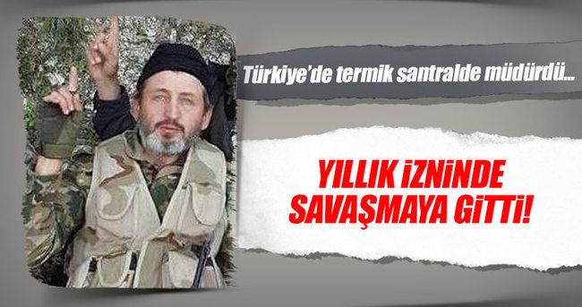 Suriye'ye savaşmaya giden müdür hayatını kaybetti!