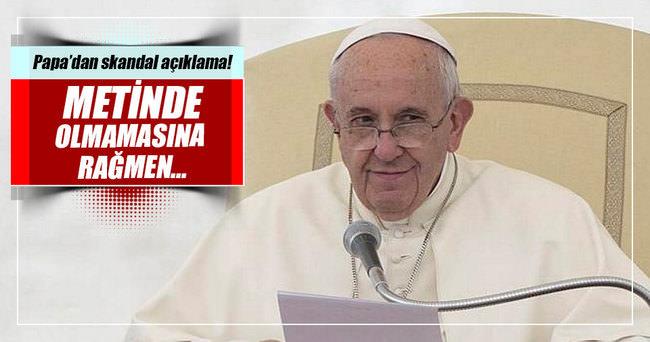 """Papa Ermenistan'da da """"soykırım"""" dedi"""