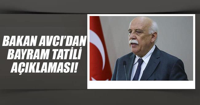 Bakan Avcı'dan 'Kurban Bayramı tatili' açıklaması  ..