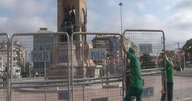 Taksim Meydanı'na bariyerli güvenlik önlemi