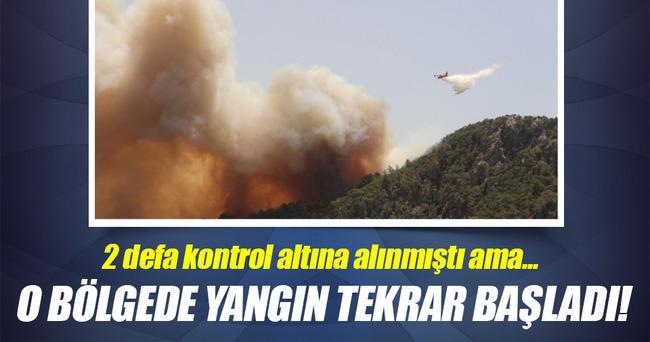 Kumluca'daki yangın tekrar başladı!