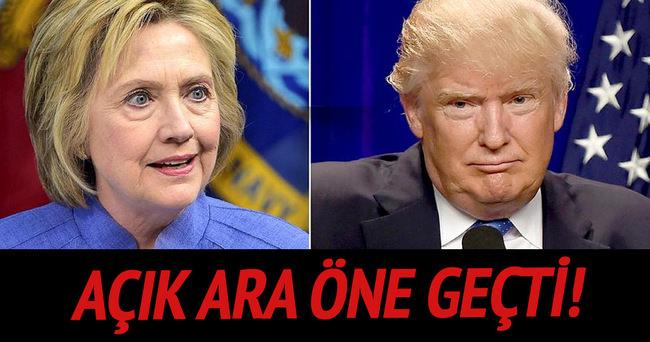 Clinton anketlerde Trump'ı geride bıraktı