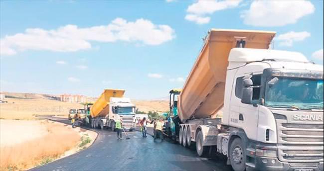 40 derece sıcakta günde 24 bin ton asfalt