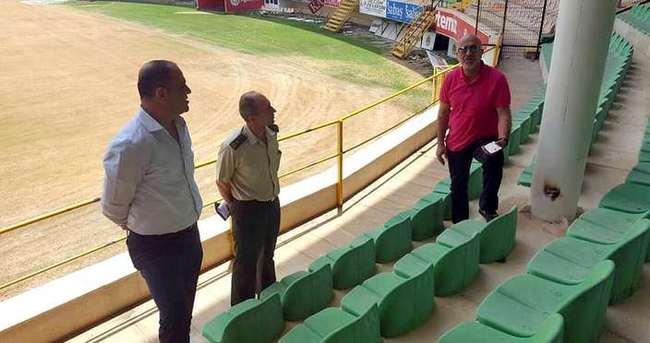 Çavuşoğlu, Oba Stadı'nı inceledi