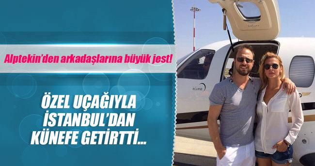 Özel uçakla İstanbul'dan Mikonos'a künefe servisi