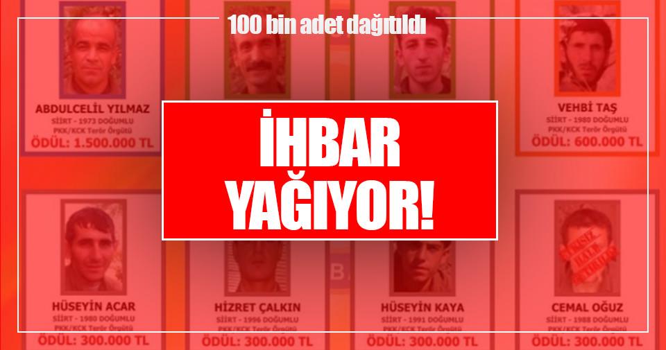 Teröristler Türkçe-Kürtçe broşürle aranıyor