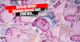 O işçilere 1700 lira destek