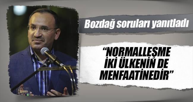 Bakan Bozdağ: Normalleşme 2 ülkenin de menfaatinedir