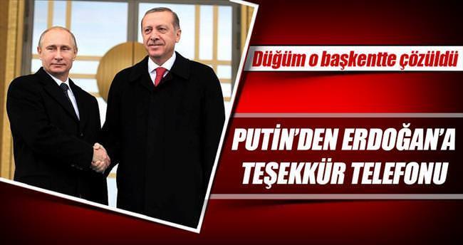 Putin'den Erdoğan'a teşekkür telefonu