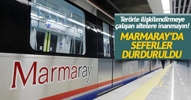 Marmaray seferlerinde gecikme