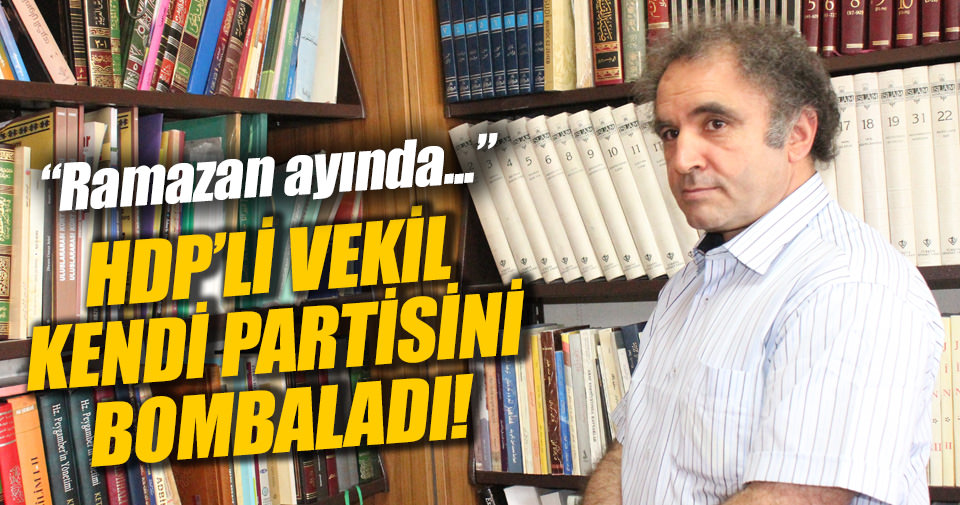 HDP'li Kadri Yıldırım partisini topa tuttu