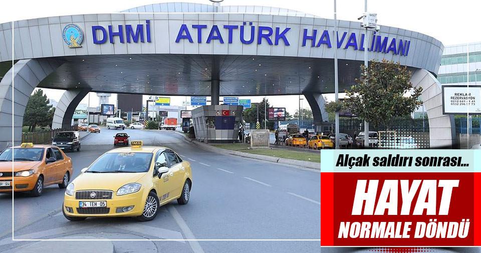 Atatürk havalimanında hayat normale döndü