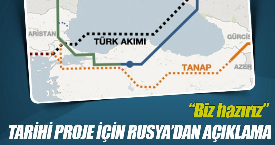 Türk Akımı için Rusya'dan flaş açıklama!