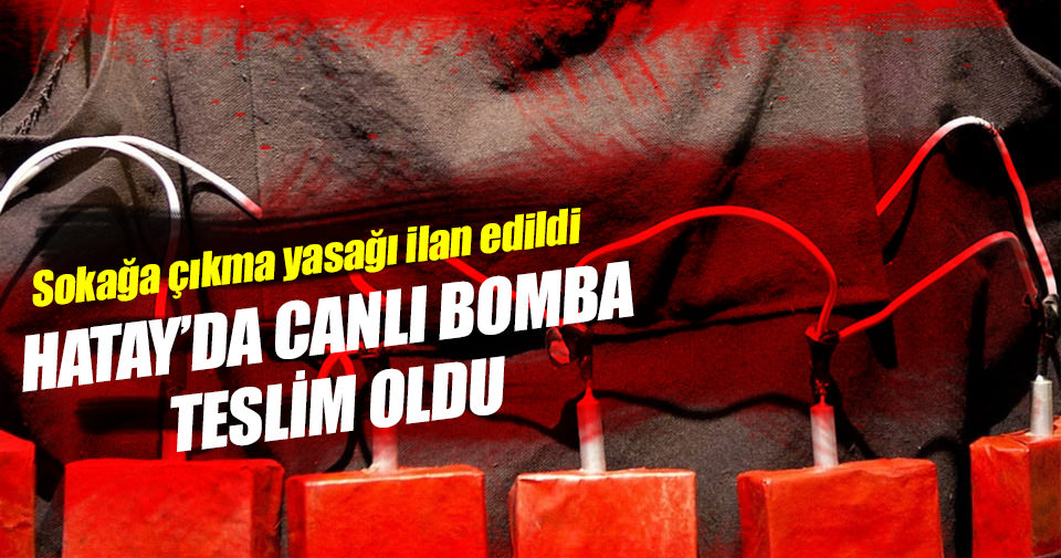 PKK'lı canlı bomba teslim oldu