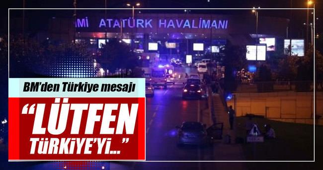 BM'den şaşırtan Türkiye çağrısı