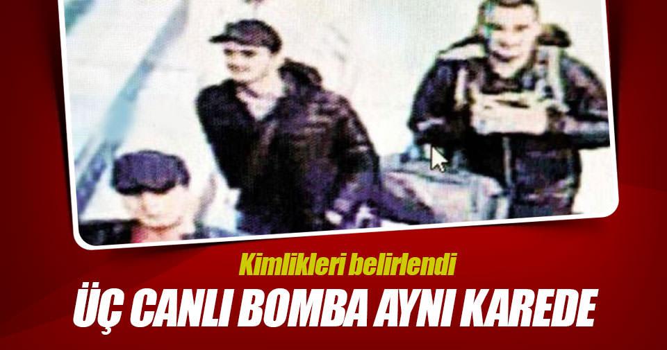 3 canlı bombanın kimliği belirlendi