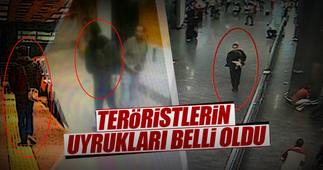 Teröristlerin uyrukları tespit edildi