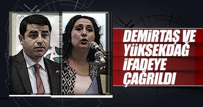 Demirtaş ve Yüksekdağ ifadeye çağrıldı